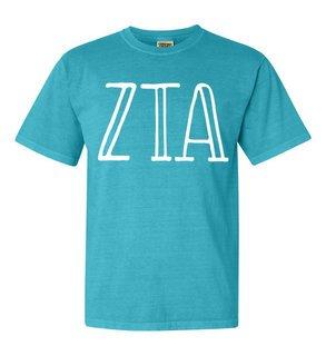 Zeta Tau Alpha Comfort Colors Heavyweight Design T-Shirt