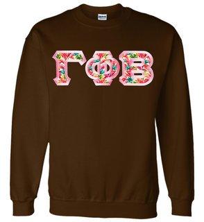 $29.99 Custom Satin Stitch Lettered Crewneck Sweatshirt