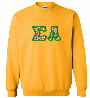 $25 Sigma Alpha Custom Twill Sweatshirt