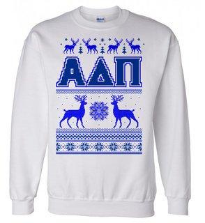 Alpha Delta Pi Ugly Christmas Sweater Crewneck Sweatshirt