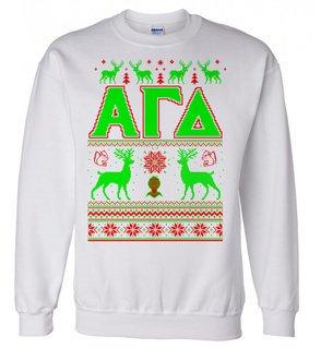 Alpha Gamma Delta Ugly Christmas Sweater Crewneck Sweatshirt