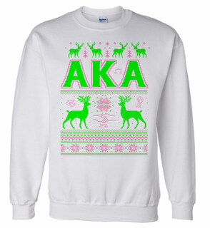 Alpha Kappa Alpha Ugly Christmas Sweater Crewneck Sweatshirt