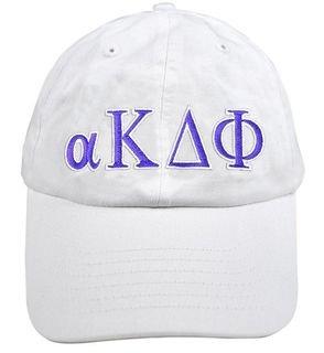 alpha Kappa Delta Phi Greek Letter Hat