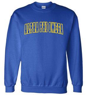 Alpha Phi Omega Letterman Twill Crew