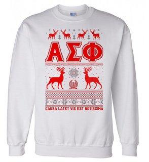 Alpha Sigma Phi Ugly Christmas Sweater Crewneck Sweatshirt