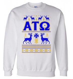Alpha Tau Omega Ugly Christmas Sweater Crewneck Sweatshirt