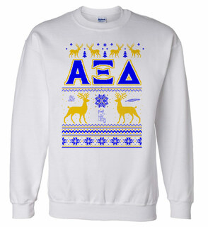 Alpha Xi Delta Ugly Christmas Sweater Crewneck Sweatshirt