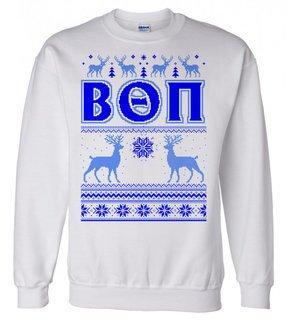 Beta Theta Pi Ugly Christmas Sweater Crewneck Sweatshirt