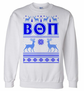 Beta Theta Pi Ugly Christmas Sweater Crewneck Sweatshirt