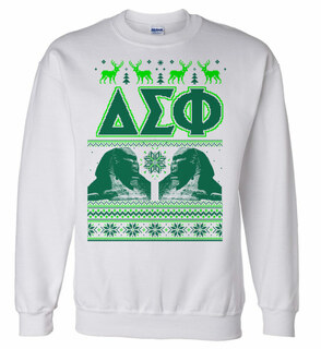 Delta Sigma Phi Ugly Christmas Sweater Crewneck Sweatshirt
