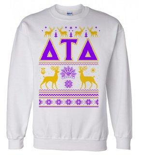 Delta Tau Delta Ugly Christmas Sweater Crewneck Sweatshirt