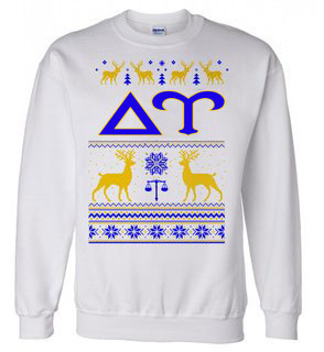 Delta Upsilon Ugly Christmas Sweater Crewneck Sweatshirt