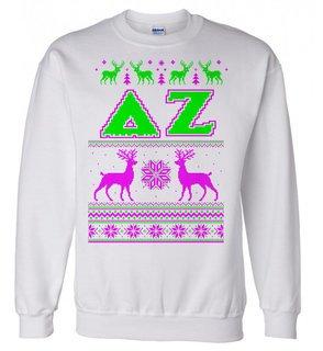 Delta Zeta Ugly Christmas Sweater Crewneck Sweatshirt