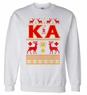 Kappa Alpha Ugly Christmas Sweater Crewneck Sweatshirt