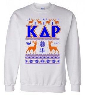 Kappa Delta Rho Ugly Christmas Sweater Crewneck Sweatshirt