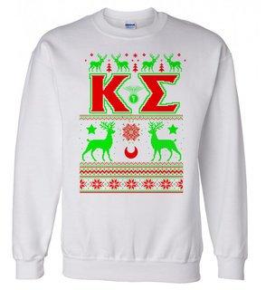 Kappa Sigma Ugly Christmas Sweater Crewneck Sweatshirt