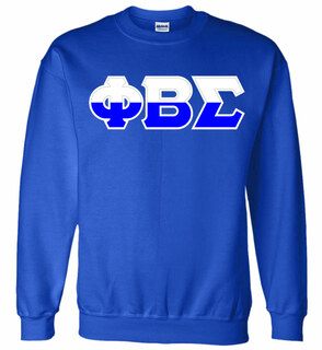 Phi Beta Sigma Two Tone Greek Lettered Crewneck Sweatshirt