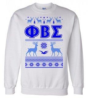 Phi Beta Sigma Ugly Christmas Sweater Crewneck Sweatshirt
