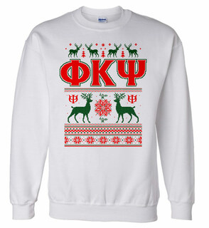 Phi Kappa Psi Ugly Christmas Sweater Crewneck Sweatshirt