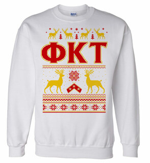 Phi Kappa Tau Ugly Christmas Sweater Crewneck Sweatshirt