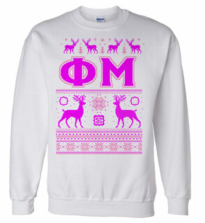 Phi Mu Ugly Christmas Sweater Crewneck Sweatshirt