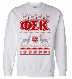 Phi Sigma Kappa Ugly Christmas Sweater Crewneck Sweatshirt