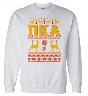 Pi Kappa Alpha Ugly Christmas Sweater Crewneck Sweatshirt