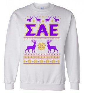 Sigma Alpha Epsilon Ugly Christmas Sweater Crewneck Sweatshirt