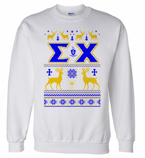 Sigma Chi Ugly Christmas Sweater Crewneck Sweatshirt
