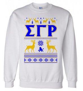 Sigma Gamma Rho Ugly Christmas Sweater Crewneck Sweatshirt