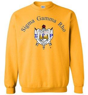 Sigma Gamma Rho World Famous Crest - Shield Printed Crewneck Sweatshirt- $25!