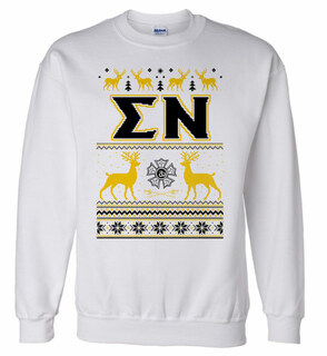 Sigma Nu Ugly Christmas Sweater Crewneck Sweatshirt