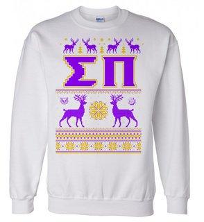 Sigma Pi Ugly Christmas Sweater Crewneck Sweatshirt