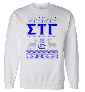 Sigma Tau Gamma Ugly Christmas Sweater Crewneck Sweatshirt