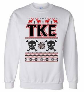 Tau Kappa Epsilon Ugly Christmas Sweater Crewneck Sweatshirt