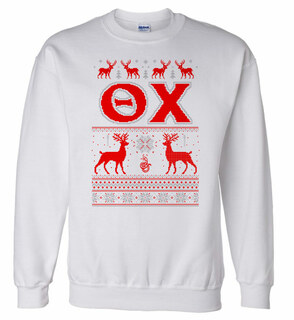 Theta Chi Ugly Christmas Sweater Crewneck Sweatshirt