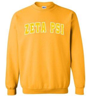 Zeta Psi Letterman Twill Crew