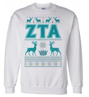 Zeta Tau Alpha Ugly Christmas Sweater Crewneck Sweatshirt