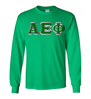 $23.99 Alpha Epsilon Phi Custom Twill Long Tee