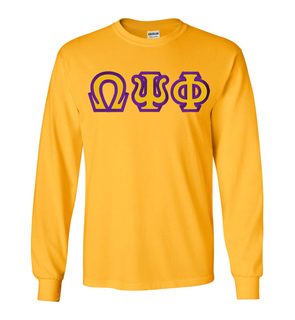 Omega Psi Phi Custom Twill Long Sleeve T-Shirt