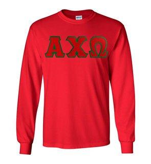 Alpha Chi Omega Lettered Long Sleeve Shirt