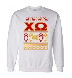 Chi Omega Ugly Christmas Sweater Crewneck Sweatshirt