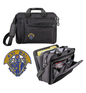Chi Phi Crest Briefcase Attache