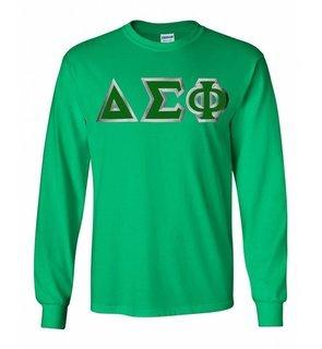 Delta Sigma Phi Lettered Long Sleeve Shirt