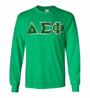 Delta Sigma Phi Lettered Long Sleeve Shirt