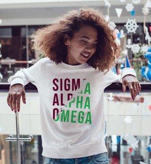 Sigma Alpha Omega Ripped Favorite Crewneck