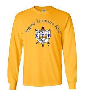 Sigma Gamma Rho World Famous Crest - Shield Long Sleeve T-Shirt - $19.95!