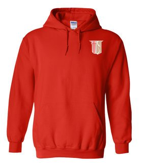 DISCOUNT-Theta Chi Crest - Shield Emblem Hooded Sweatshirt
