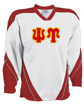 DISCOUNT-Psi Upsilon Breakaway Lettered Hockey Jersey