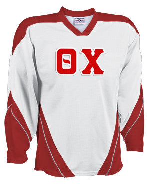 DISCOUNT-Theta Chi Breakaway Lettered Hockey Jersey